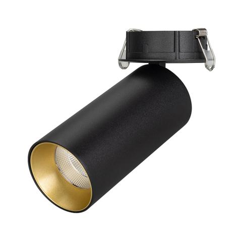 Светильник SP-POLO-BUILT-R65-8W White5000 (BK-GD, 40 deg) (ARL, IP20 Металл, 3 года)
