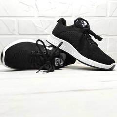 Женские черные кроссовки с белой подошвой Fashion Leisure QQ116.