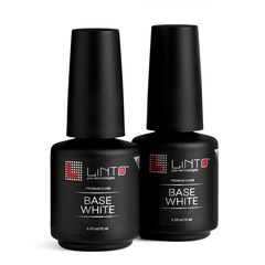 LINTO База для гель-лака камуфлирующая WHITE 15 ml