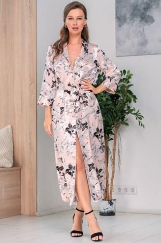 Длинный шелковый халат Mia Amore Флавия (70% нат.шелк)