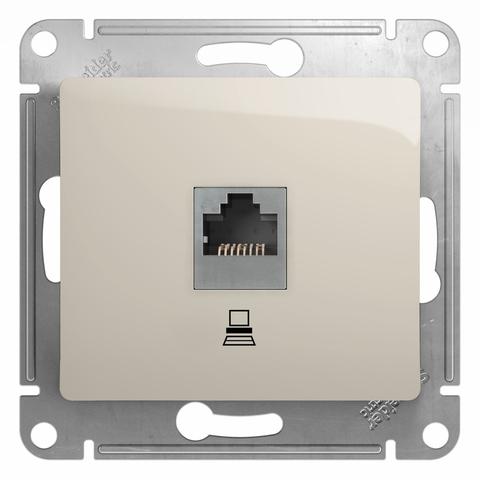 Розетка компьютерная RJ45, категория 5Е. Цвет Молочный. Schneider Electric Glossa. GSL000981K