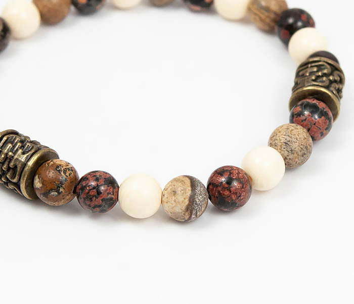 BS784 Мужской браслет из натуральных камней фото 03