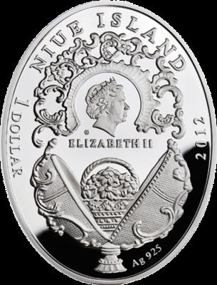 1 доллар. Орден Святого Георгия - Императорские яйца Фаберже. Ниуэ. 2012 г.
