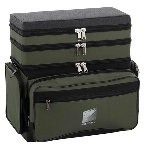 Ящик-рюкзак рыболовный зимний Salmo пенопластовый 3-х ярус. H-3LUX