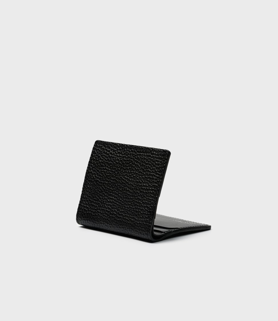 Campbell Cole Elm Compact Wallet Pebbled Black