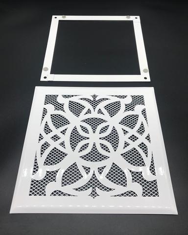Решетка стальная на магнитах РП Лотос-170 сетка, белая