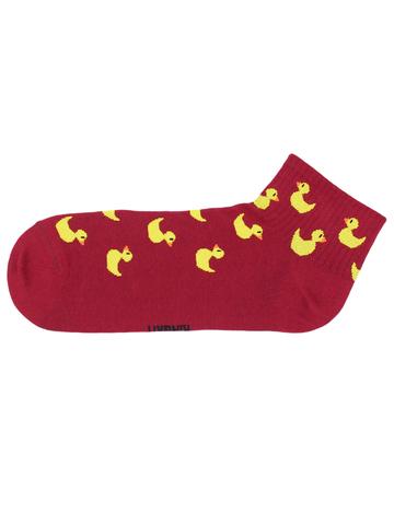 Носки Утка бордовая