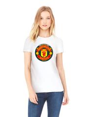 Футболка с принтом FC Manchester United (ФК Манчестер Юнайтед) белая w002