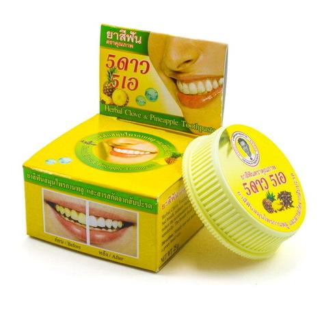 Зубная паста с экстрактом ананаса 5star, 25 гр.