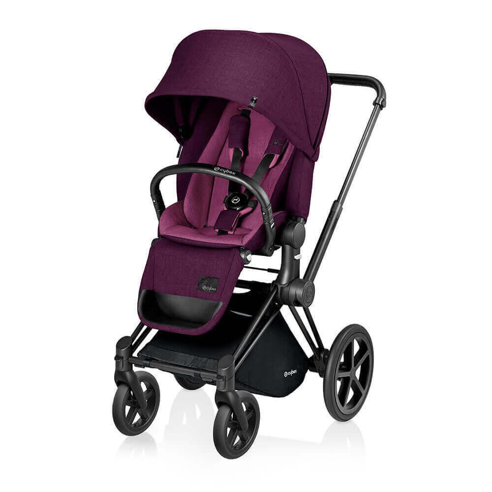 Цвета Cybex Priam прогулочная Прогулочная коляска Cybex Priam Lux Mystic Pink шасси Matt Black/Trekking cybex-priam-mystic-pink-lux-seat-black.jpg