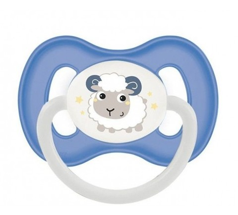 Пустышка силиконовая симметричная Bunny & Company Canpol Babies, голубой