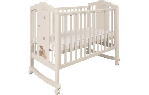 Кроватка детская Polini kids 621 бежевый-макиато Плюшевые Мишки