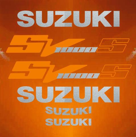 Набор виниловых наклеек на мотоцикл SUZUKI SV 1000S 2003