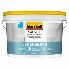 Краска латексная для потолков Marshall MAESTRO Белый Потолок Люкс (Белый)