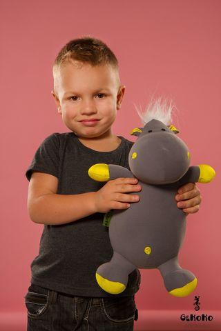 Подушка-игрушка «Бегемот малыш Няша», желтый-2