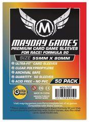 Протекторы для настольных игр Mayday Premium Race! Formula 90 Card (55x80) - 50 штук