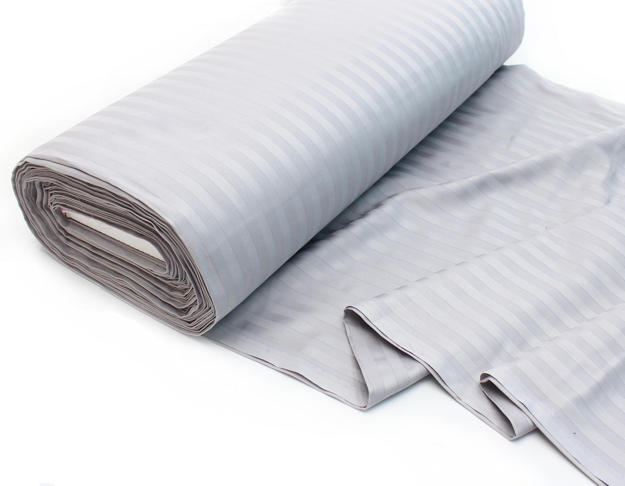 Серый,страйп (сатин класса люкс, Турция),240 см