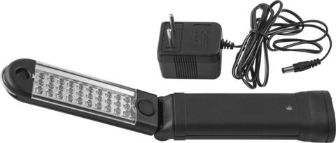 JAZ-0019 Лампа переносная аккумуляторная многоцелевая, светодиодная, складная, с магнитным держателем