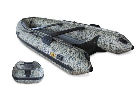 Надувная ПВХ-лодка Солар Максима - 450 К (пиксель)