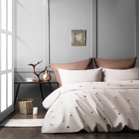 Комплект постельного белья сатин Парад серый