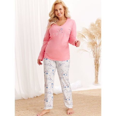 Пижама с брюками Iga (BS) персиковая
