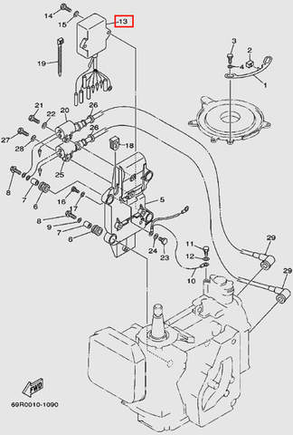 Коммутатор для лодочного мотора Т30 Sea-PRO (9-13)