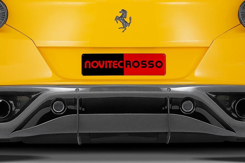 Карбоновая нижняя часть диффузора Novitec Style для Ferrari FF