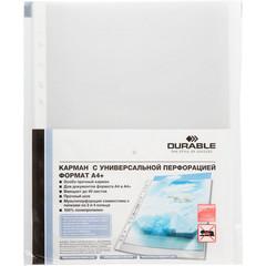 Файл-вкладыш Durable А4+ 60 мкм прозрачный гладкий 10 штук в упаковке