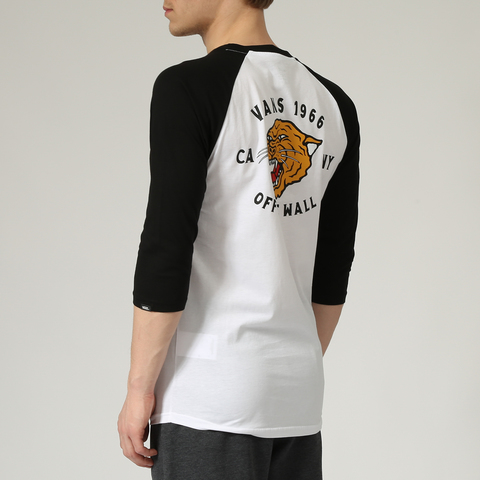 Футболка VANS MN GROWLER RAGLAN White/Black