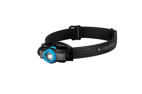 Фонарь светодиодный налобный LED Lenser MH5, черно-голубой, 400 лм, аккумулятор