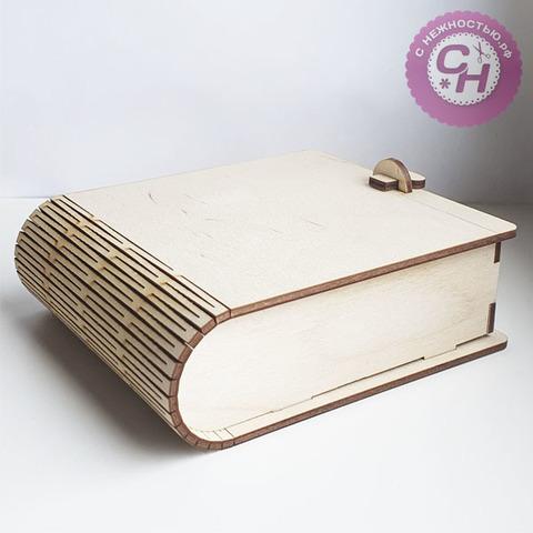 Шкатулка-книжка деревянная, 14*11,7*4,5 см, 1 шт.