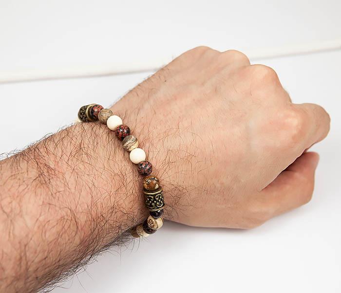 BS784 Мужской браслет из натуральных камней фото 06