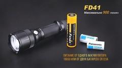 Купить недорого фонарь светодиодный Fenix FD41, 900 лм, аккумулятор*