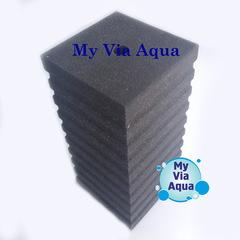 Фильтрующая губка 12x12x25 см, квадрат с прорезями