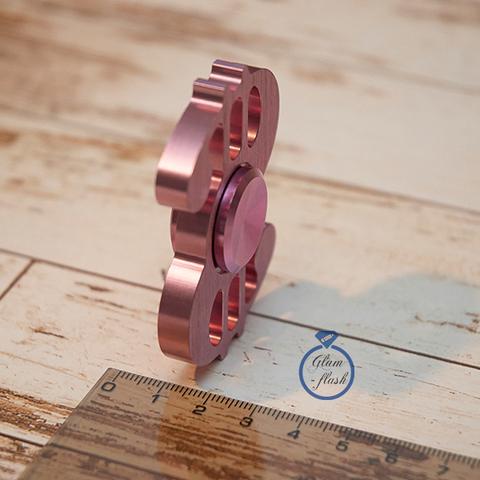 Спиннер из латуни в форме доллара розового цвета 17006L_pink