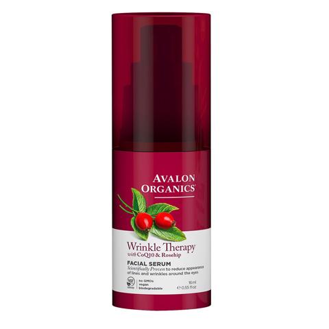 Avalon Organics CoQ10 & Rosehip: Сыворотка против морщин с коэнзимом CoQ10 и шиповником (Wrinkle Therapy With CoQ10 & Rosehip Facial Serum), 16мл