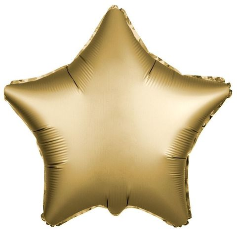Шар звезда Золото Сатин, 45 см