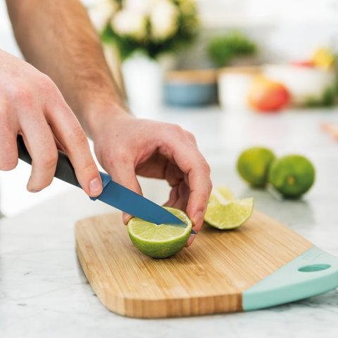 Нож для очистки 8,5см Leo (синий)