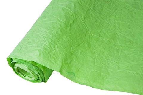 Бумага жатая эколюкс 70см х 5м светло-зеленая/серебро 02S