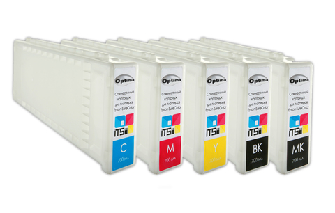 Комплект из 5 картриджей Optima для Epson  5x700 мл