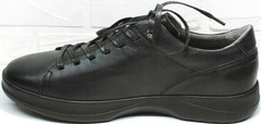Мужские кожаные кеды туфли мужские спортивные осень весна Ikoc 1725-1 Black.