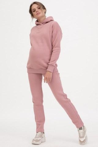 Утепленный спортивный костюм для беременных и кормящих 11885 пудра