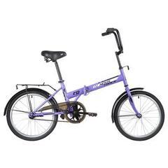 Складной велосипед Novatrack TG-30 фиолетовый
