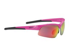 Очки спортивные BBB Impress Small  PC smoke red lenses блестящий розовый