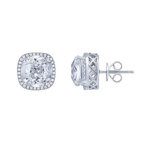 4734- Пусеты CARATS  квадратные, из серебра
