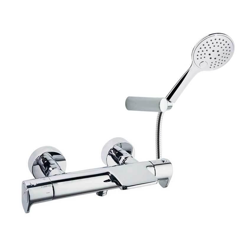 Смеситель термостатический для ванны с каскадным изливом и душевым комплектом ALEXIA 363901TR