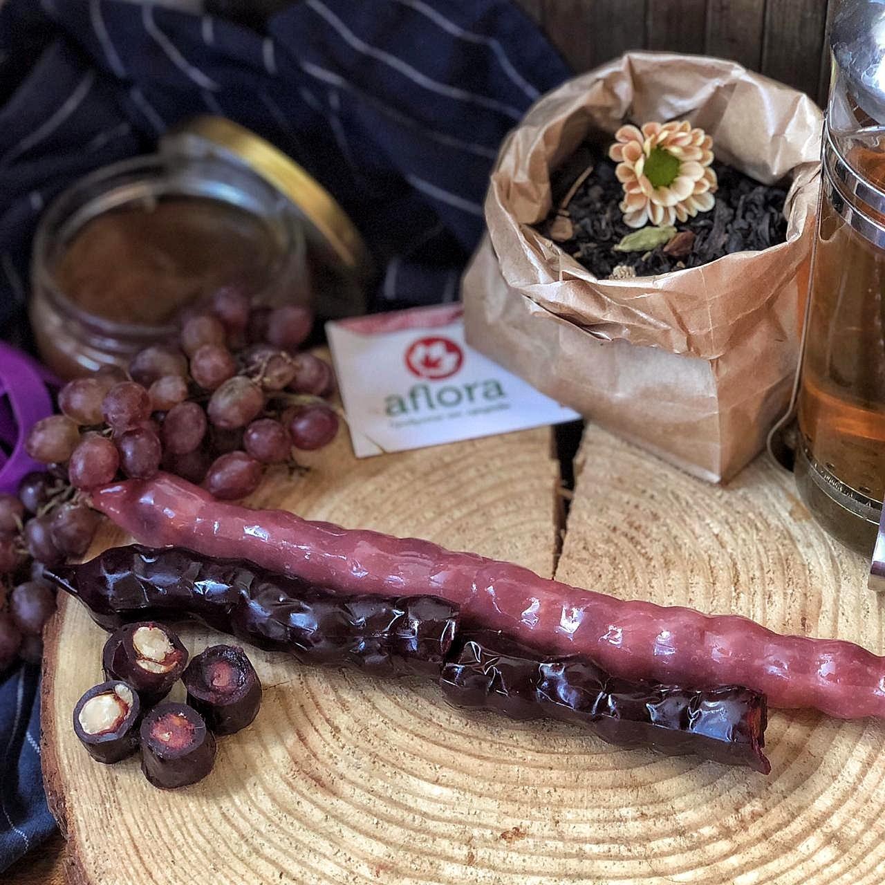 Фотография Чурчхела без глютена с грецким орехом в красном соке (Грузия) купить в магазине Афлора