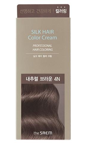The Saem Краска для закрашивания седины Silk Hair Color Cream Gray Hair Natural Brown (Натуральный коричневый)