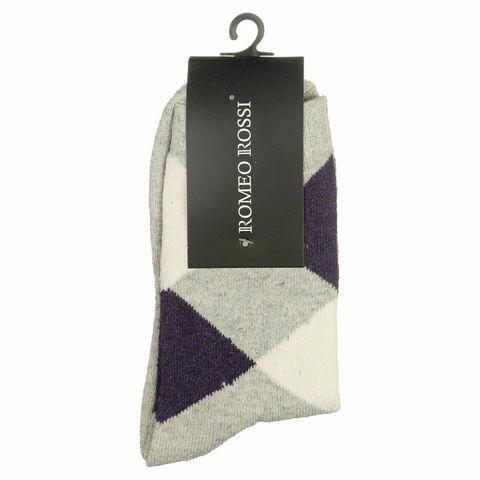 Мужские носки серые ROMEO ROSSI с шерстью 8046-3