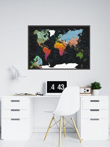 AFI DESIGN Скретч-карта мира Black A1, 60 × 84 см